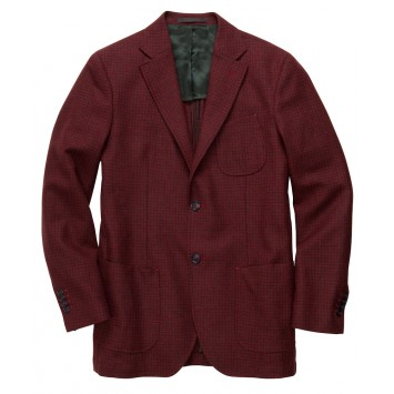Gentleman's Jacket - Red Anniversary Check
